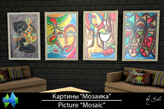 Sims 4 Mosaic pictures at Soli Sims 4