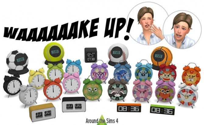 Alarm clocks by Sandy at Around the Sims 4 image 667 670x411 Sims 4 Updates