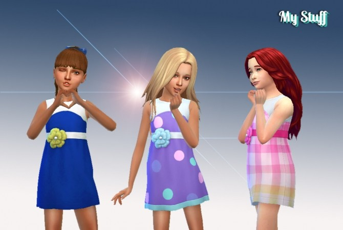 Dress Flower for Girls at My Stuff image 671 670x449 Sims 4 Updates