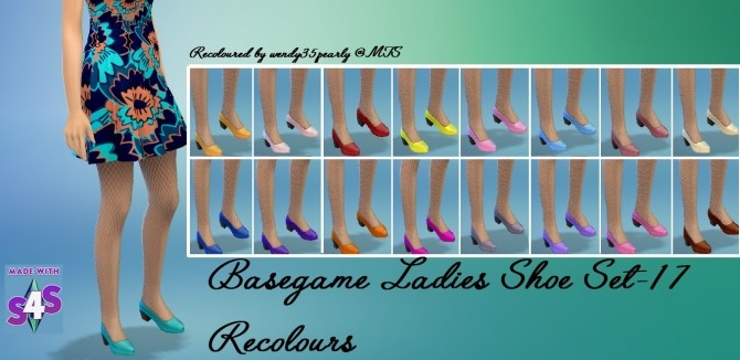 Sims 4 Female Shoes Recolour SET Pumps by wendy35pearly at Mod The Sims