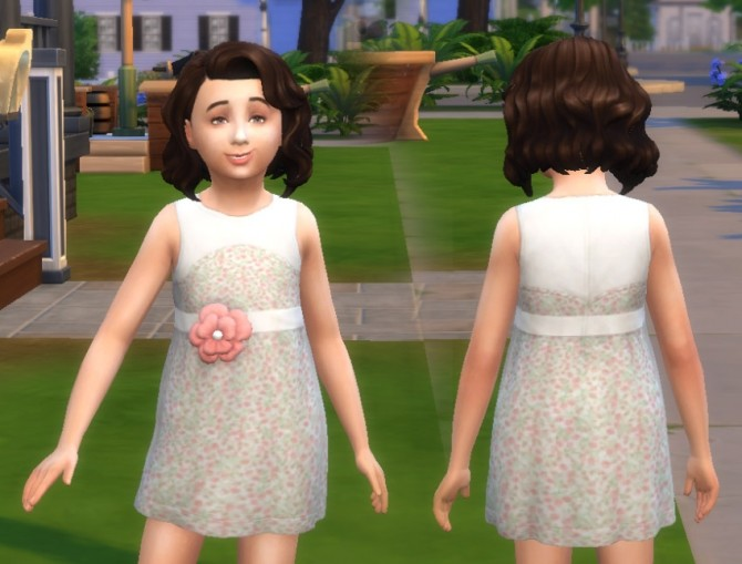 Dress Flower for Girls at My Stuff image 681 670x509 Sims 4 Updates