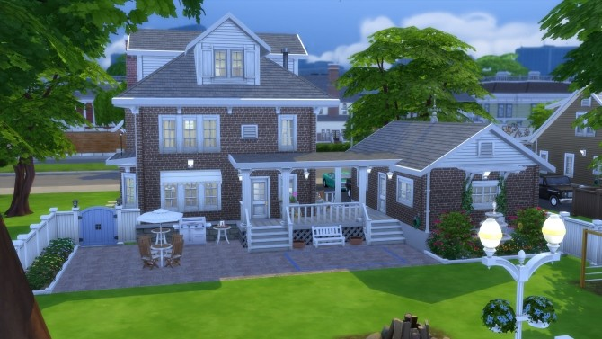 Sims 4 American Foursquare by pollycranopolis at Mod The Sims
