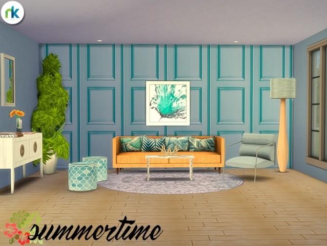 Summertime Living Room at Nikadema Designs image 6815 670x503 Sims 4 Updates