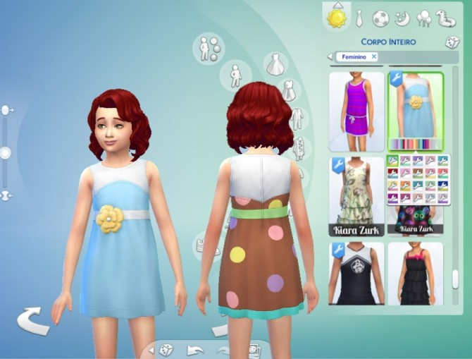 Sims 4 Dress Flower for Girls at My Stuff