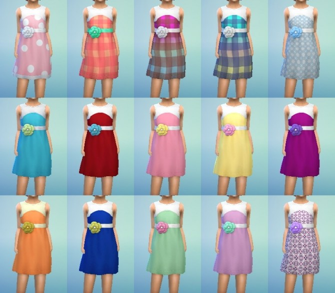 Dress Flower for Girls at My Stuff image 701 670x587 Sims 4 Updates