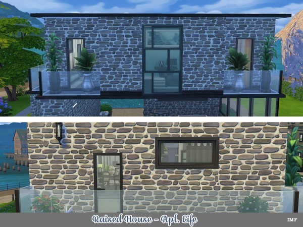 Sims 4 IMF Raised House by IzzieMcFire at TSR