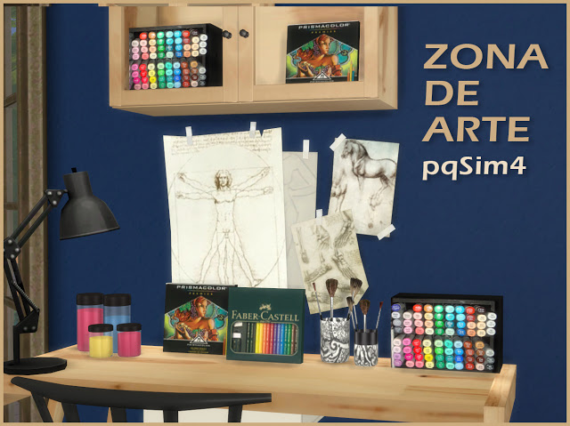 Art Zone at pqSims4 image 711 Sims 4 Updates