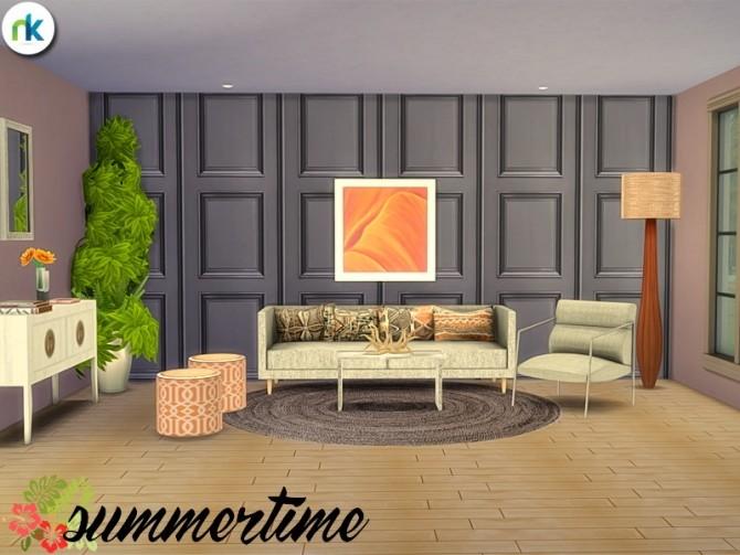 Summertime Living Room at Nikadema Designs image 7120 670x503 Sims 4 Updates