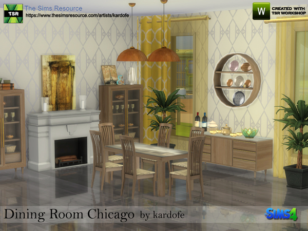 Dining Room Chicago by kardofe at TSR image 729 Sims 4 Updates