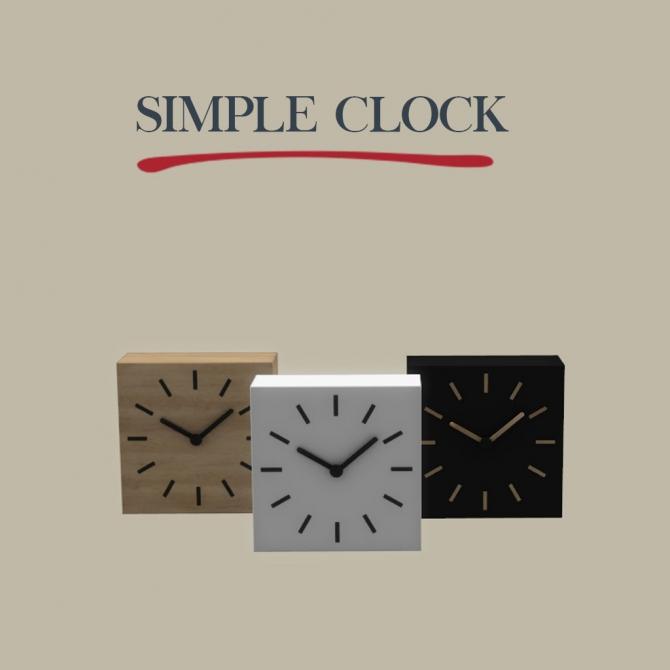 Simple Clock At Leo Sims 187 Sims 4 Updates