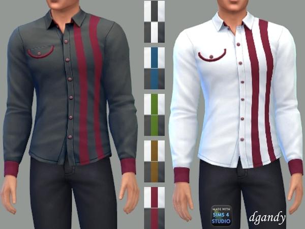 Sims 4 Long Sleeve Shirt C by dgandy at TSR