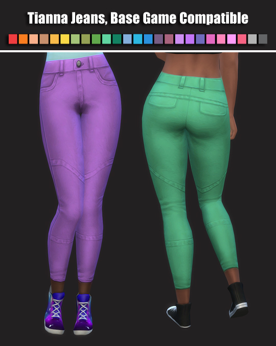 Sims 4 Tianna Jeans by maimouth at SimsWorkshop
