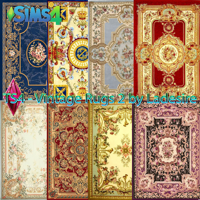 Vintage Rugs 02 at Ladesire image 746 Sims 4 Updates