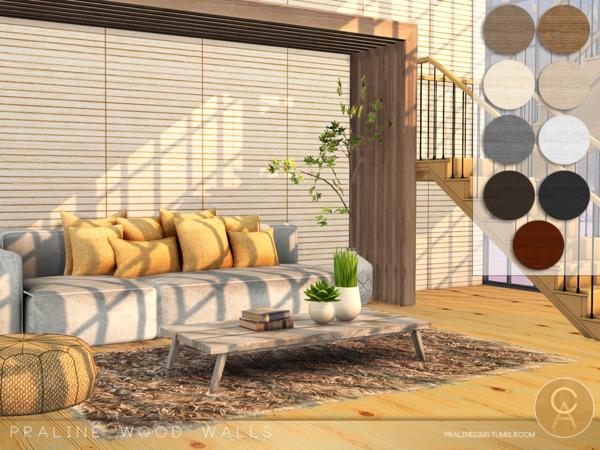 Praline Wood Walls by Pralinesims at TSR image 7513 Sims 4 Updates