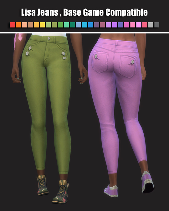 Lisa Jeans by maimouth at SimsWorkshop image 753 Sims 4 Updates