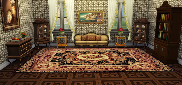 Vintage Rugs 02 at Ladesire image 756 Sims 4 Updates