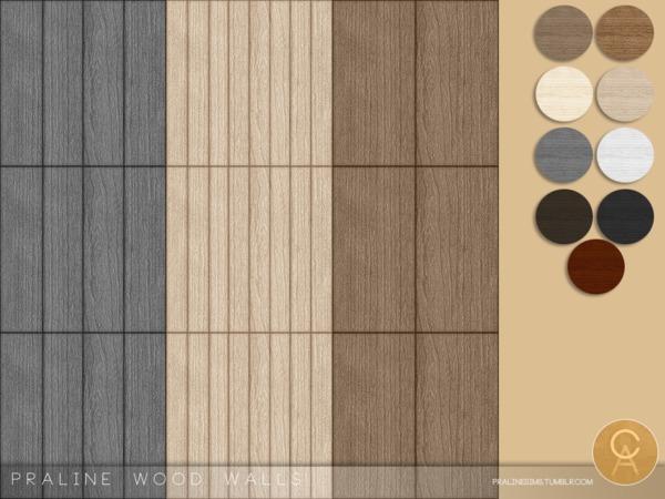 Praline Wood Walls by Pralinesims at TSR image 7613 Sims 4 Updates
