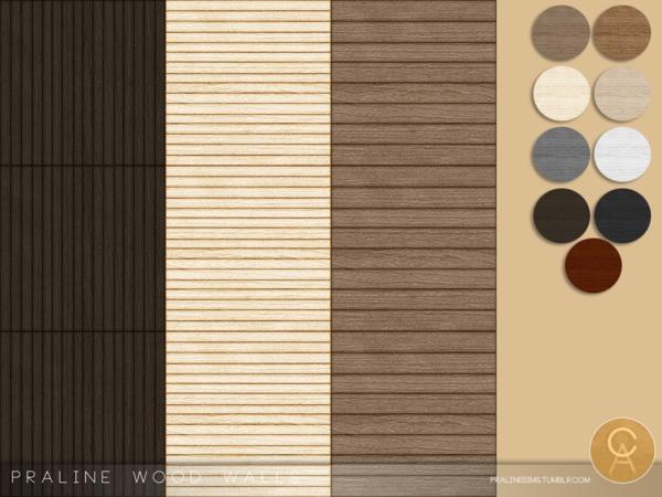 Praline Wood Walls by Pralinesims at TSR image 7713 Sims 4 Updates