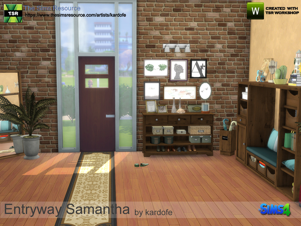 Entryway Samantha by kardofe at TSR image 780 Sims 4 Updates
