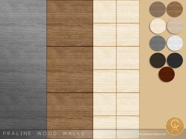 Praline Wood Walls by Pralinesims at TSR image 7813 Sims 4 Updates