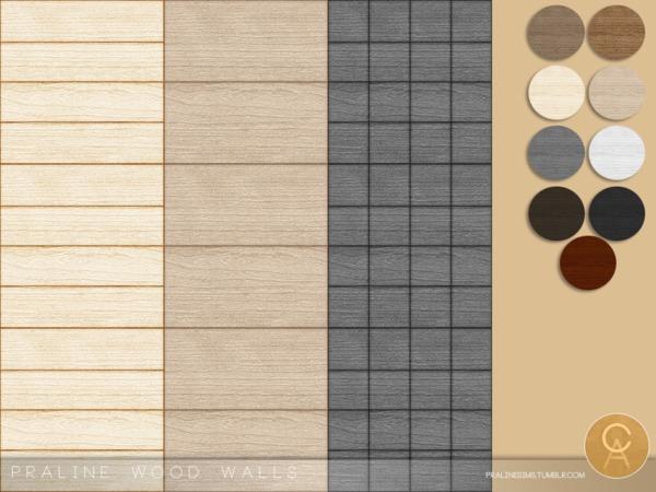 Praline Wood Walls by Pralinesims at TSR image 7913 Sims 4 Updates