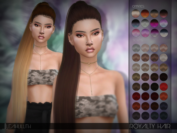 Royalty Hair by Leah Lillith at TSR image 795 Sims 4 Updates