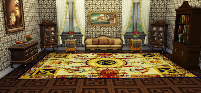 Sims 4 Vintage Rugs 02 at Ladesire