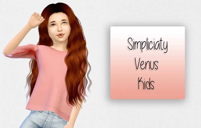 Simpliciaty Venus Hair Kids Version at Simiracle image 811 670x427 Sims 4 Updates
