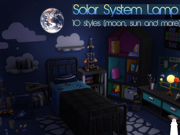 Solar system lamp by Waterwoman at Akisima image 8112 Sims 4 Updates