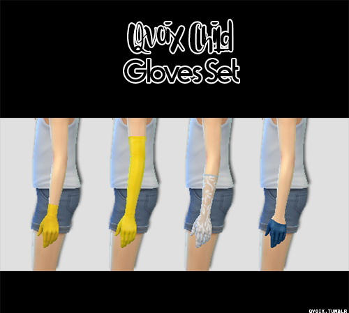 Sims 4 Child Gloves Set at qvoix – escaping reality