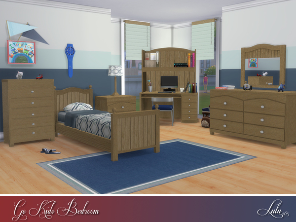 Sims 4 Go Kids Bedroom by Lulu265 at TSR