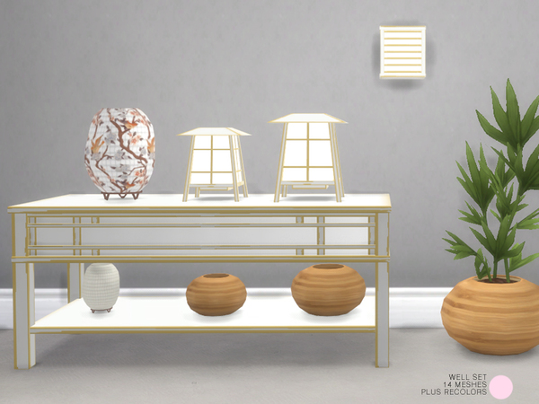 Well Asian Set by DOT at TSR image 819 Sims 4 Updates