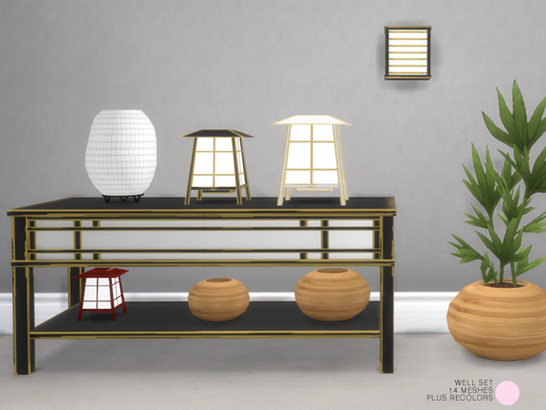 Well Asian Set by DOT at TSR image 824 Sims 4 Updates