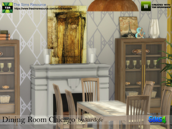 Sims 4 Dining Room Chicago by kardofe at TSR