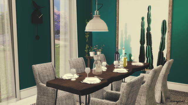 Petrol Dining Room at Evey Sims image 848 Sims 4 Updates