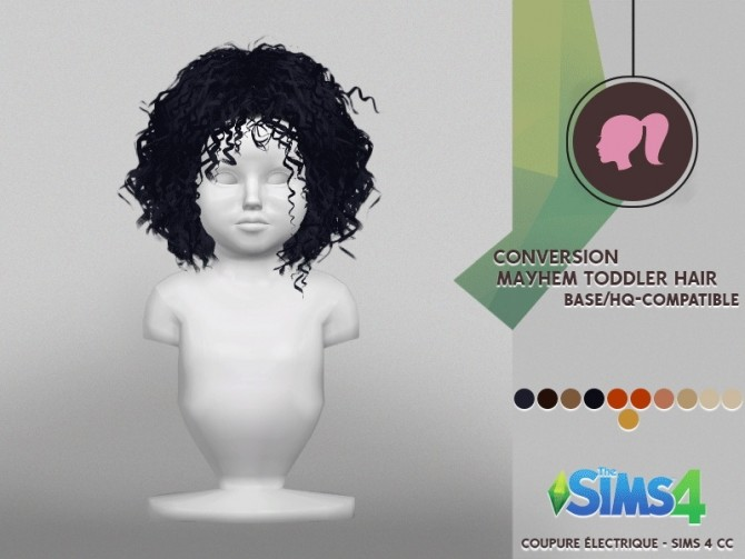 Sims 4 MAYHEM TODDLER HAIR at REDHEADSIMS