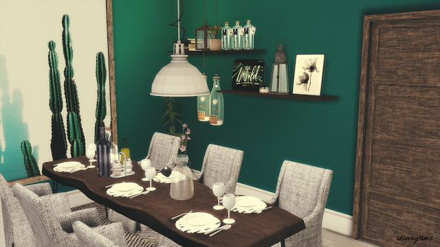 Petrol Dining Room at Evey Sims image 868 Sims 4 Updates