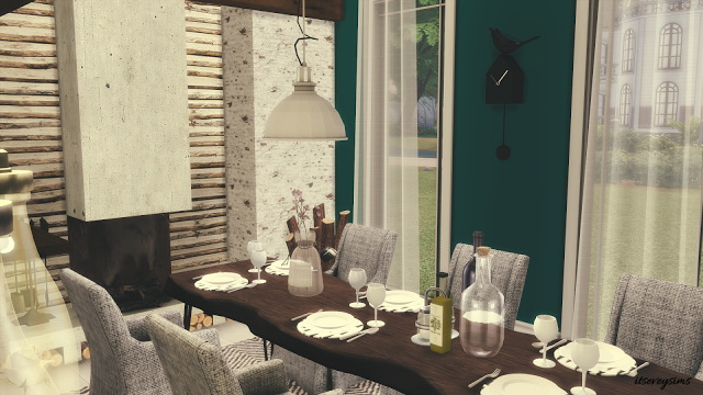 Petrol Dining Room at Evey Sims image 876 Sims 4 Updates