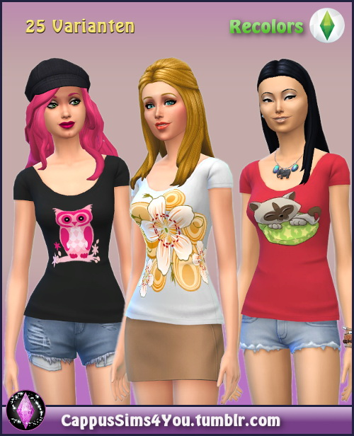Sims 4 Shirt Fly at CappusSims4You