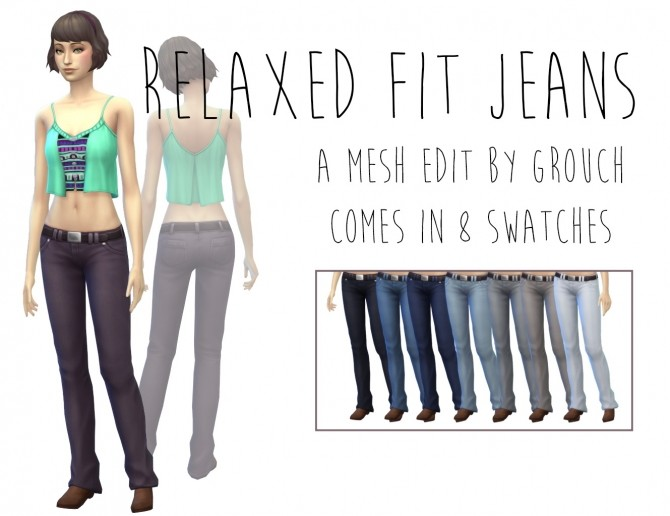 Relaxed Fit Jeans by Grouchy Old Sims at SimsWorkshop image 8913 670x516 Sims 4 Updates