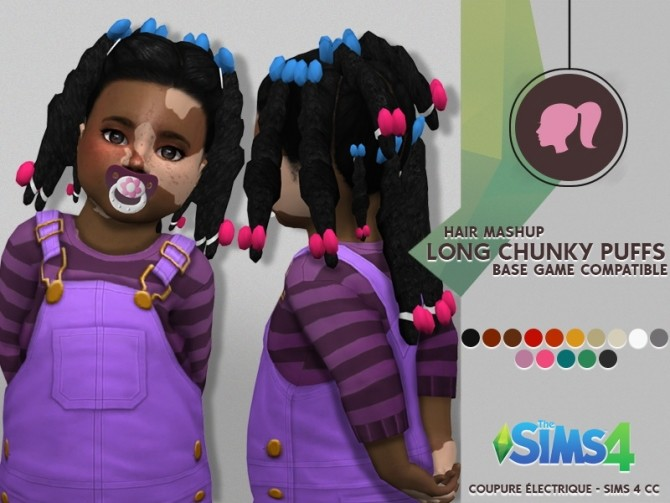 LONG CHUNKY PUFFS at Coupure Electrique image 9110 670x503 Sims 4 Updates