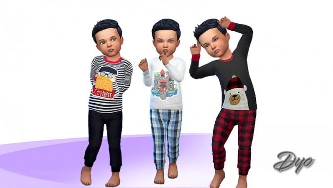 Sims 4 Boy pajama 2 by Dyokabb at Les Sims4