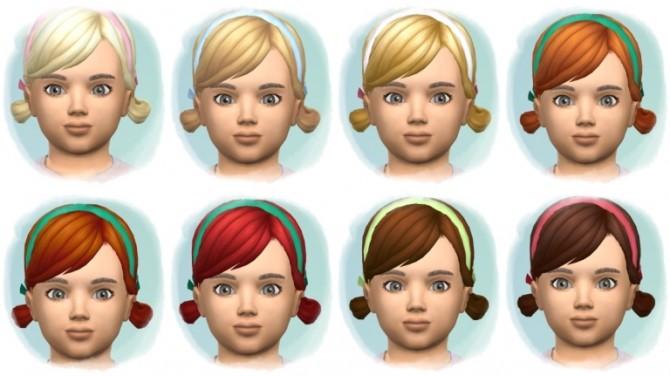 Sims 4 LowBun with Band at Birksches Sims Blog