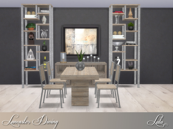 Sims 4 Lancaster Dining by Lulu265 at TSR