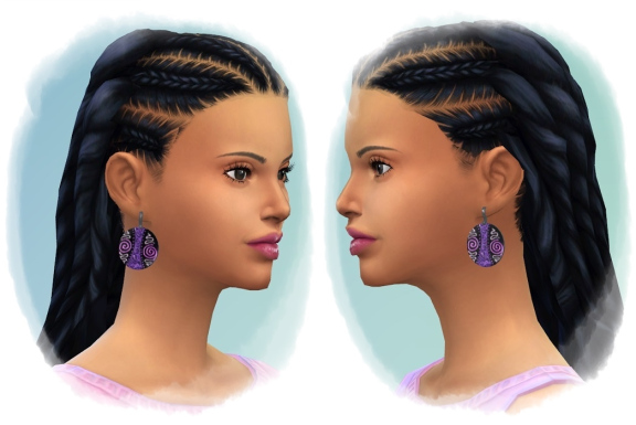 Sims 4 Just Long Dreads F at Birksches Sims Blog