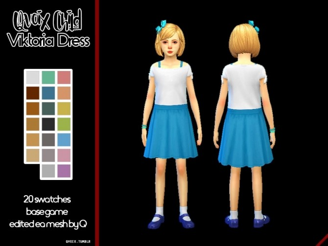 Sims 4 Child Viktoria Dress at qvoix – escaping reality