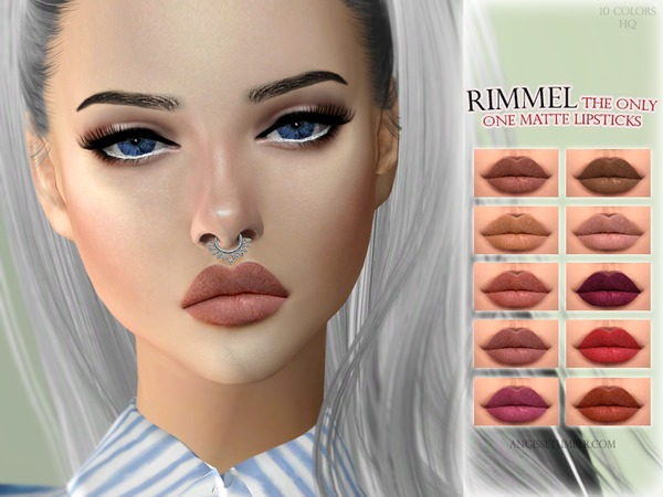 Sims 4 The only one matte lipsticks by ANGISSI at TSR