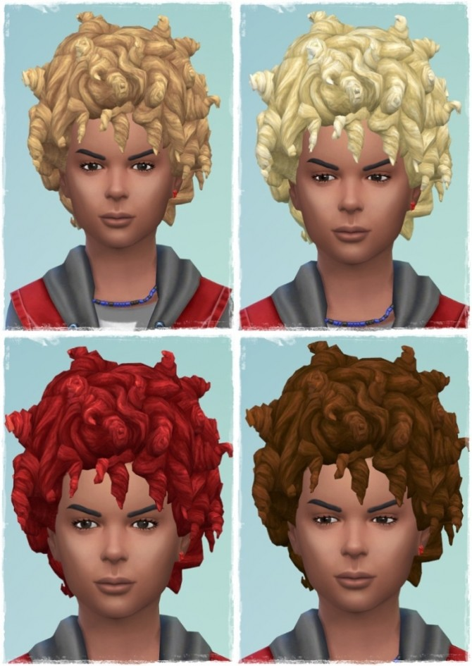 Sims 4 Kids Many Tight Curls Hair at Birksches Sims Blog