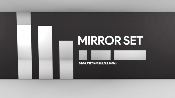 6 Piece Mirror Set by MrMonty96 at Mod The Sims image 971 670x377 Sims 4 Updates