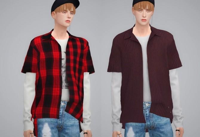 Sims 4 Layered Shirts at BY2OL